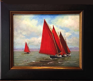 Red Sails of Ireland - 8x10 oil on board | Sold
