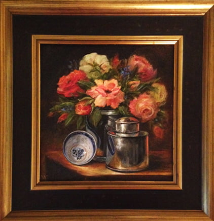 Reflections - 8 X 8 oil | Anderson Guild Juried Art Show | Sold