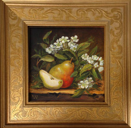 Summer Pears | 8 x 8 | oil on canvas | Anderson Art Guild 2017 Juried Show | Sold Private Collector