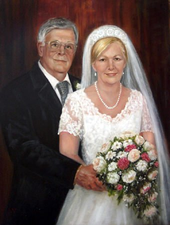 Rod and Deb, 2012,  oil 16 X 20