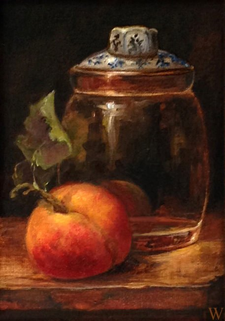 Grandma's Jam Jar and Southern Expectations   5 X 7 Oil   currently at Hang It Up Gallery, Hartwell, Georgia   available, inquire for price